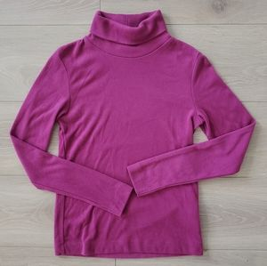 Uniqlo Heattech turtleneck magenta fuchsia XS